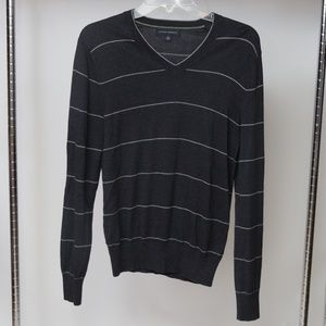 Mens Banana Republic V Neck Silk Sweater